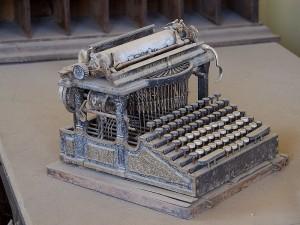 Machine a ecrire et acte de naissance