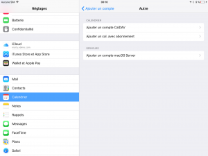 Ios Synchronisation : Ajouter un compte -2