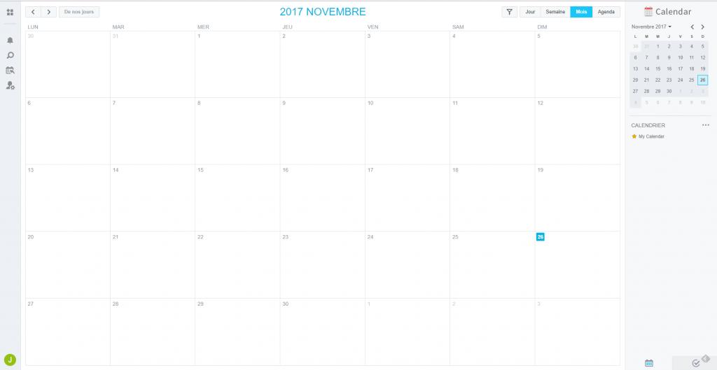 Caldav : Affichage des calendriers