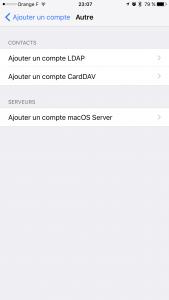 Synchronisation iOS Carddav 2