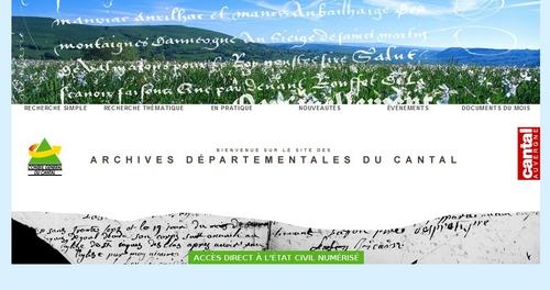 Archives du Cantal : Accueil