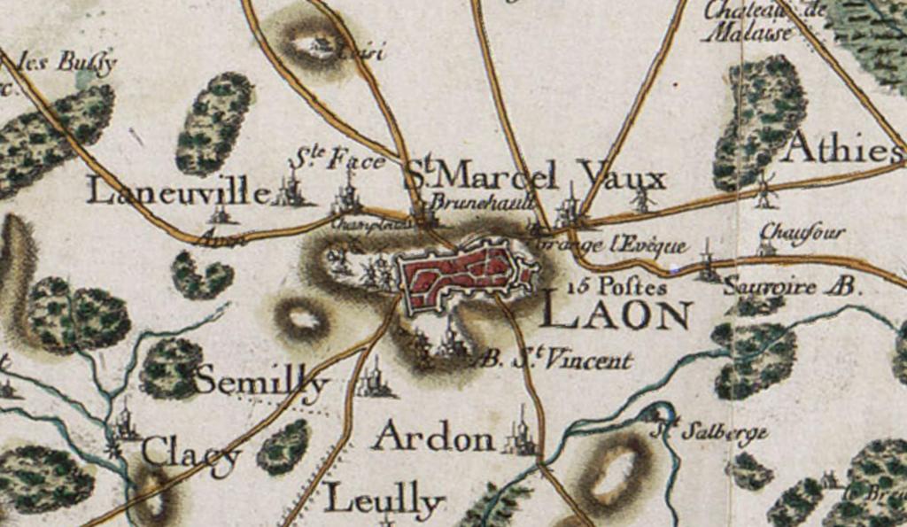Carte de Cassini Laon