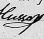 Genealogie30 : La signature d'Eugene Husson