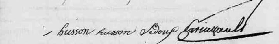 généalogie30 : Les signatures de l'acte de naissance