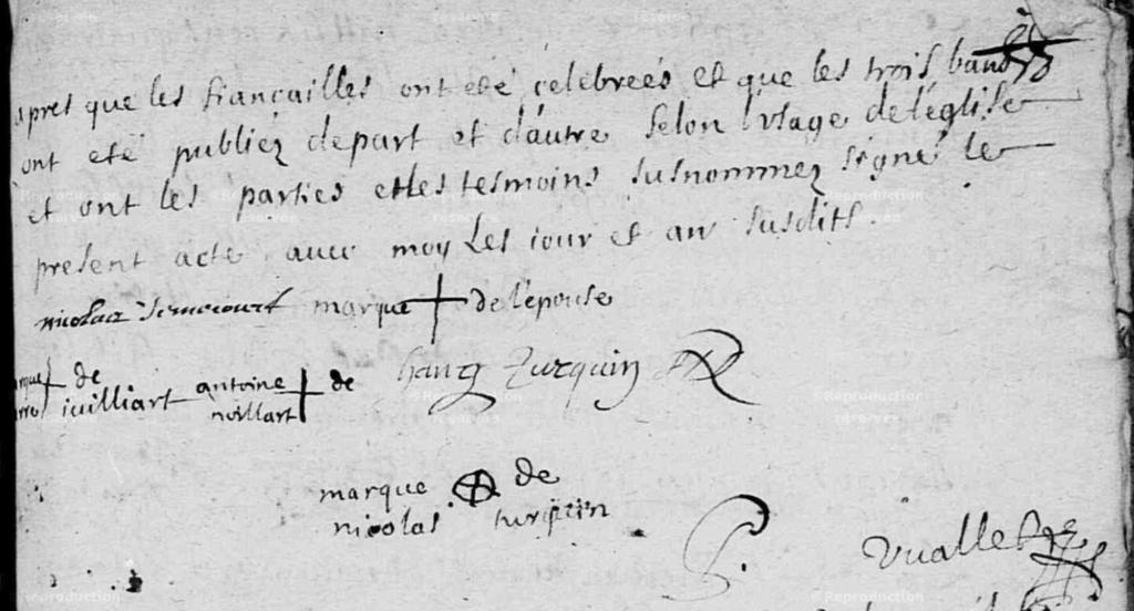 Page 2 de l'acte de mariage de Nicolas Jumeaucourt et Charlotte Turquin à Chalandry