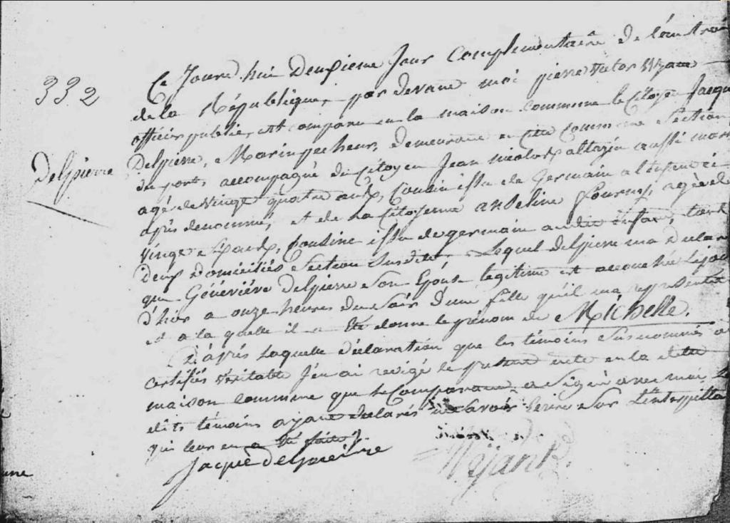 Acte de Naissance de Michèle DELPIERRE à Boulogne sur Mer