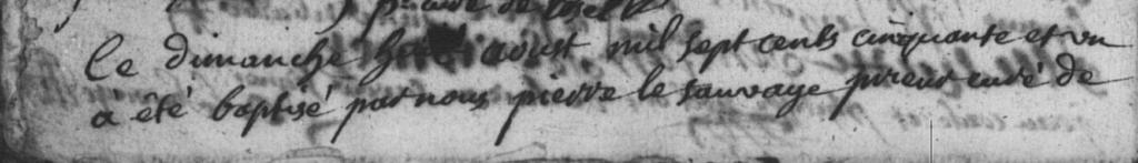 Baptême Jacques Cecille