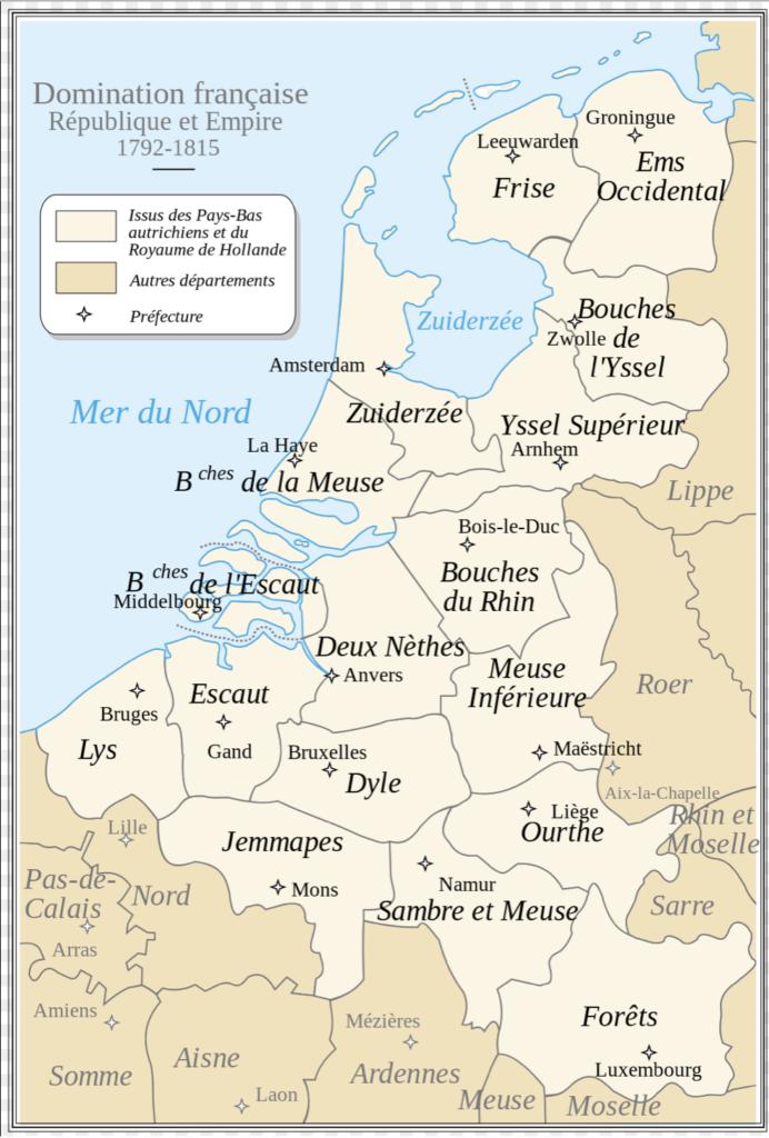 Carte faisant figure la province des Deux Nèthes