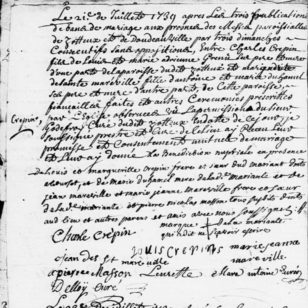Mariage Crepin x De Sainte MARESVILLE Doudeauville