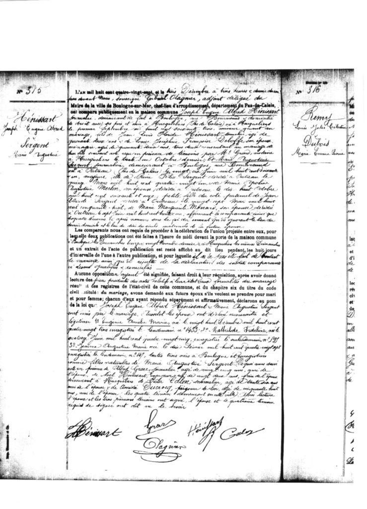 Mariage Henissart x Sergent Boulogne sur Mer